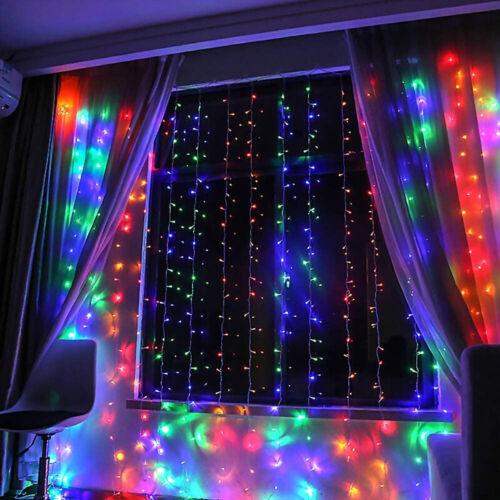 Window Curtain String Light 300 LED USB Powered Waterproof Fairy Lights Remote
