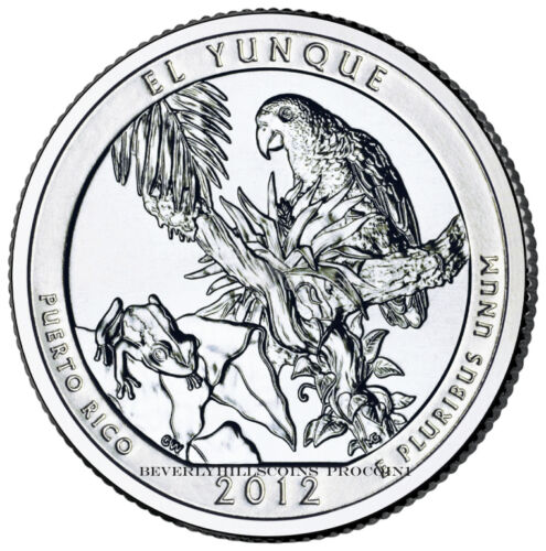 2012 El Yunque National Forest Puerto Rico Quarter San Francisco