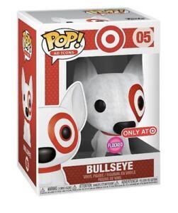 Funko Pop Flocked Bullseye Target Exclusive In Hand With Protector