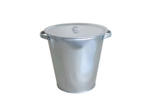 Deckel Ascheimer Wassereimer Metalleimer Dekoeimer 15 Liter Zinkeimer m