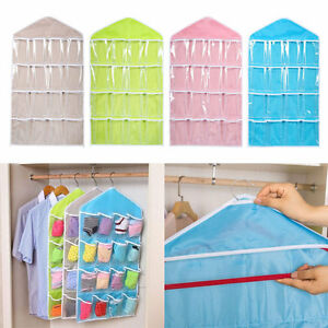 16-Pockets-Clear-Over-Door-Hanging-Bag-Shoe-Rack-Hanger-Storage-Sale