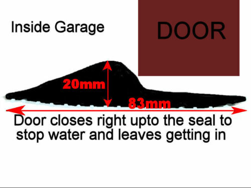 10ft GARAGE DOOR HEAVY DUTY FLOOR MOUNT THRESHOLD WEATHER SEAL DRAUGHT EXCLUDER