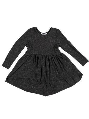 Joah Love Sofi Charcoal Hi Lo Cotton Jersey Girls Tunic Top 4-12 NWT