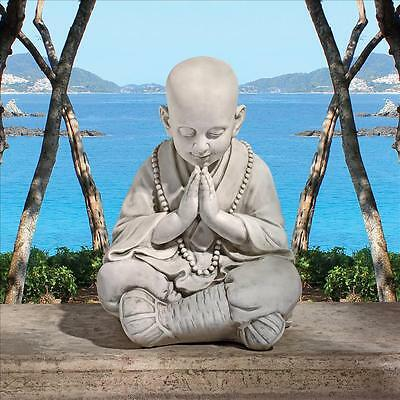 Little Young Child Buddha Inner Peace Namaste Prayer Meditation Mala Sculpture