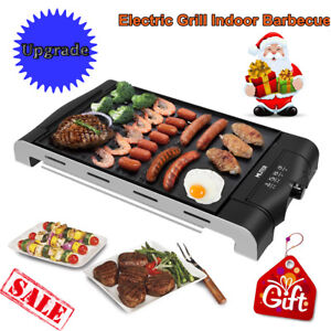Electric BBQ Grill Non Stick Griddle Smokeless for Indoor Barbecue ...