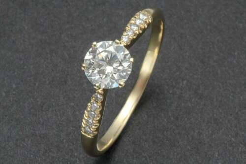 2.10Ct Round VVS1 Diamond Engagement Women Bridal Ring 14k Yellow Gold Finish