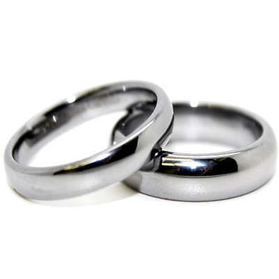 Matching Ring Set 4mm & 5mm Classic Tungsten His & Her Rings (Whole/Half Sizes)