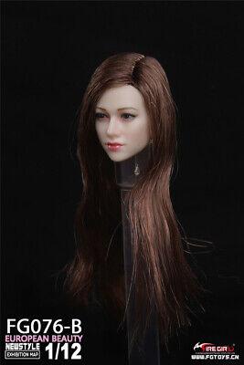1//6 Scale Female chef Sculpt pour 12 in Head Model Jouet