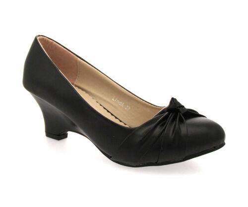 """Femme noir compensé escarpins /""""Linda/"""""""