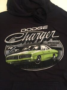 Dodge Charger Muscle Car / Official Licensed / Black Hoodie / NWT XL