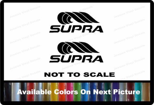 """2 Supra Boat Decals Left /& Right 22/"""" x 7/"""" Custom Vinyl Decals"""