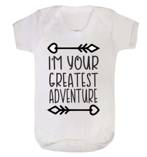 I Am Your Greatest Adventure Babygrow First Baby Exciting Gift Present