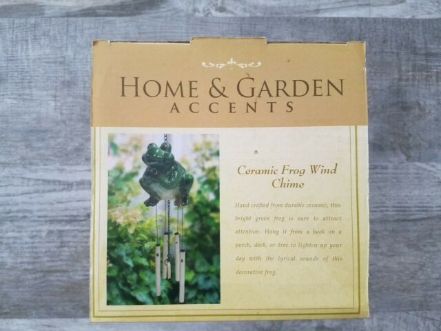 Ceramic Frog Wind Chime - KLL108 - Alpine Corporation - Home & Garden  Accents