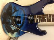 ESP CUSTOM ELECTRIC GUITAR, (ALIEN), w/BLUE AIRBRUSH, GARY LEVINSON CUSTOM TREM