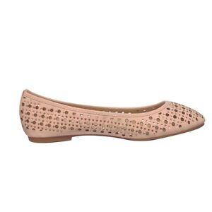 5cb5e7540bcfa NEW BALLERINA PUMP ladies laser cut DOLLY shoes Womens Flat ...