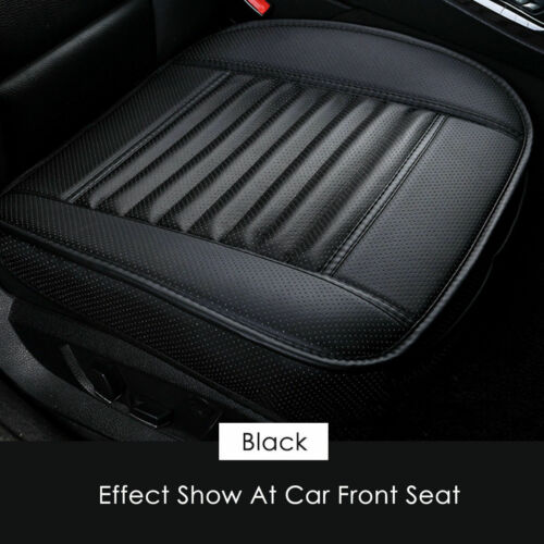 Car Front Seat Cover Breathable PU Leather Pad Mat Chair Cushion Full Surround