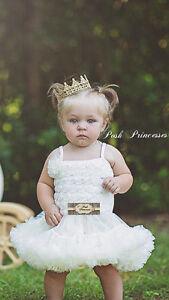 Newborn Light Gold Lace Princess Crown, Baby Photo Prop, Gold Birthday Crown