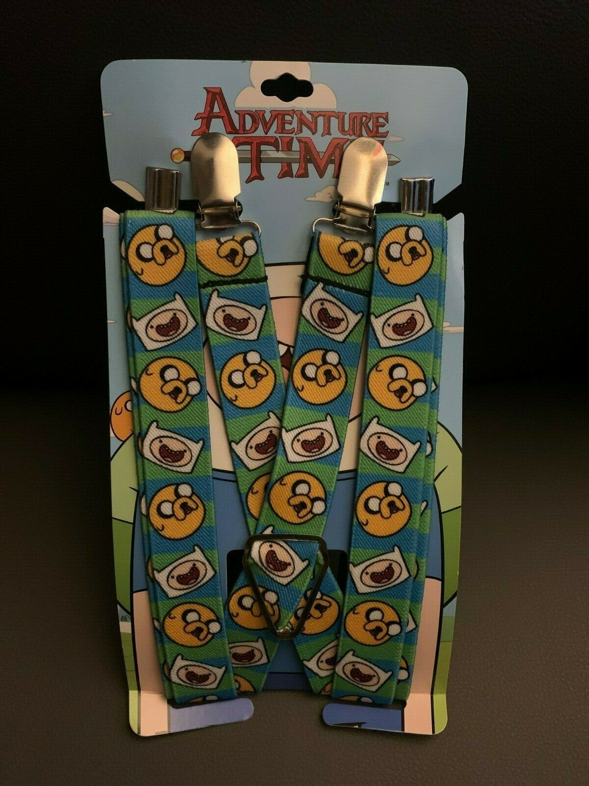 New Adventure Time Striped Finn & Jake Suspenders