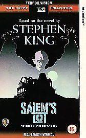 SALEM'S LOT - STEPHEN KING - PAL VHS (UK) VIDEO - RARE - FULL LENGTH 184 MINUTES