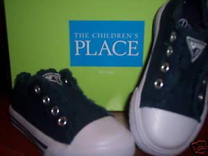 NIB-Children-039-s-Place-TCP-Lazer-Slide-on-Shoe-Navy-7-NEW