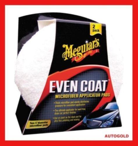 MEGUIARS Coppia Applicatori Even Coat Spugna Microfibra Professionale per Cera
