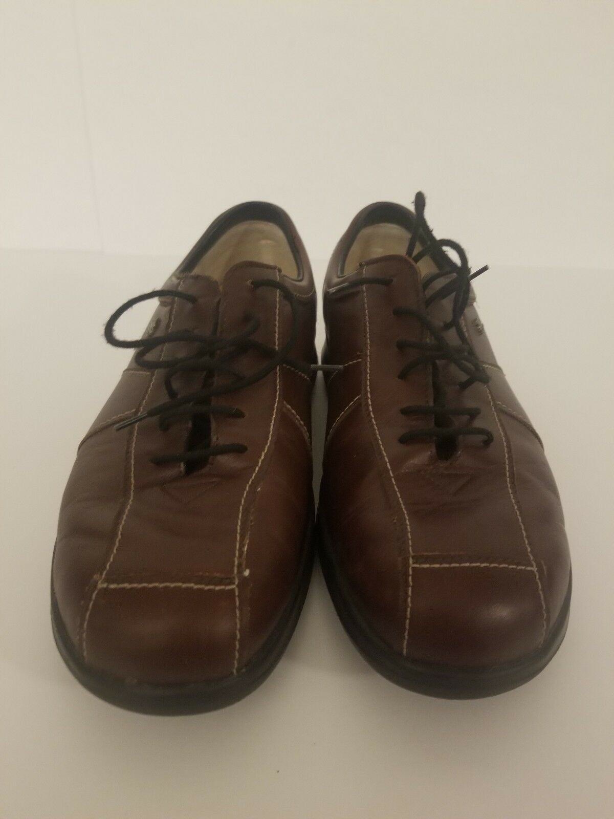 345 Finn Comfort Womens Soft Soho Brown Leather Leather Leather Oxford shoes Sz 7 UK Sz 9.5 US c4d4f6