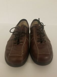 345-Finn-Comfort-Womens-Soft-Soho-Brown-Leather-Oxford-Shoes-Sz-7-UK-Sz-9-5-US