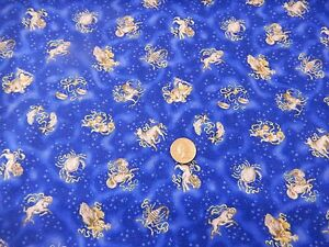 Cotton fabric freedom cosmos zodiac signs astrology half for Astrology fabric