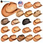 BK Caps Western Fashion Straw Cowboy Hats