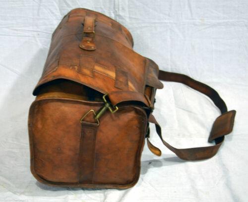 Men/'s New Genuine Soft Leather Duffel Travel Gym Weekend Overnight Bag Vintage