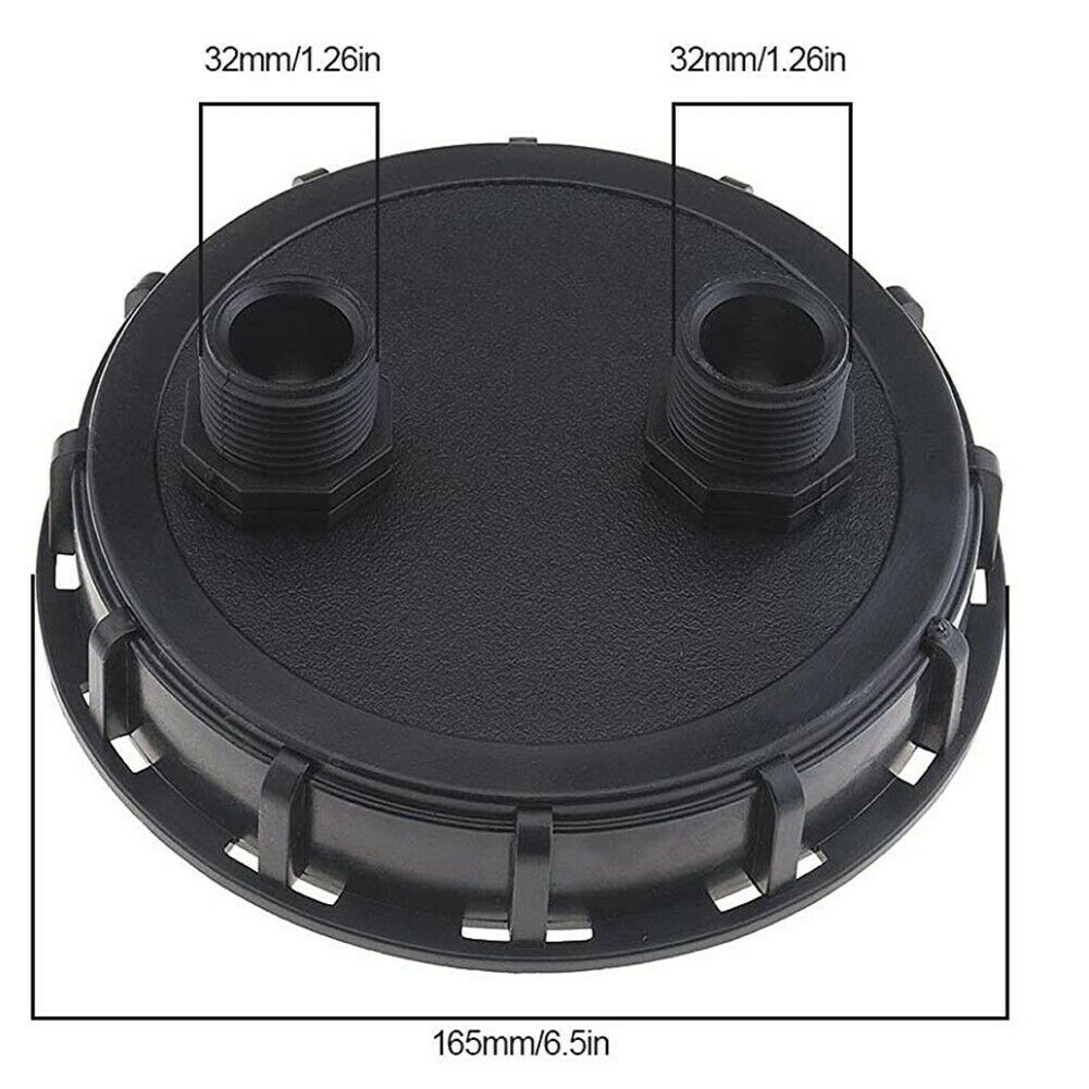 IBC Lid Double Vent Holes IBC Lid Male Thread Plastic With 32mm Coarse