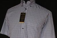 Roundtree And Yorke Gold Lable Casual Shirt Dress Shirt Short Sleeve Size S