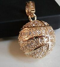 Gold Finish  Hip Hop Bling Rapper Style Fashion Basket Ball Pendant