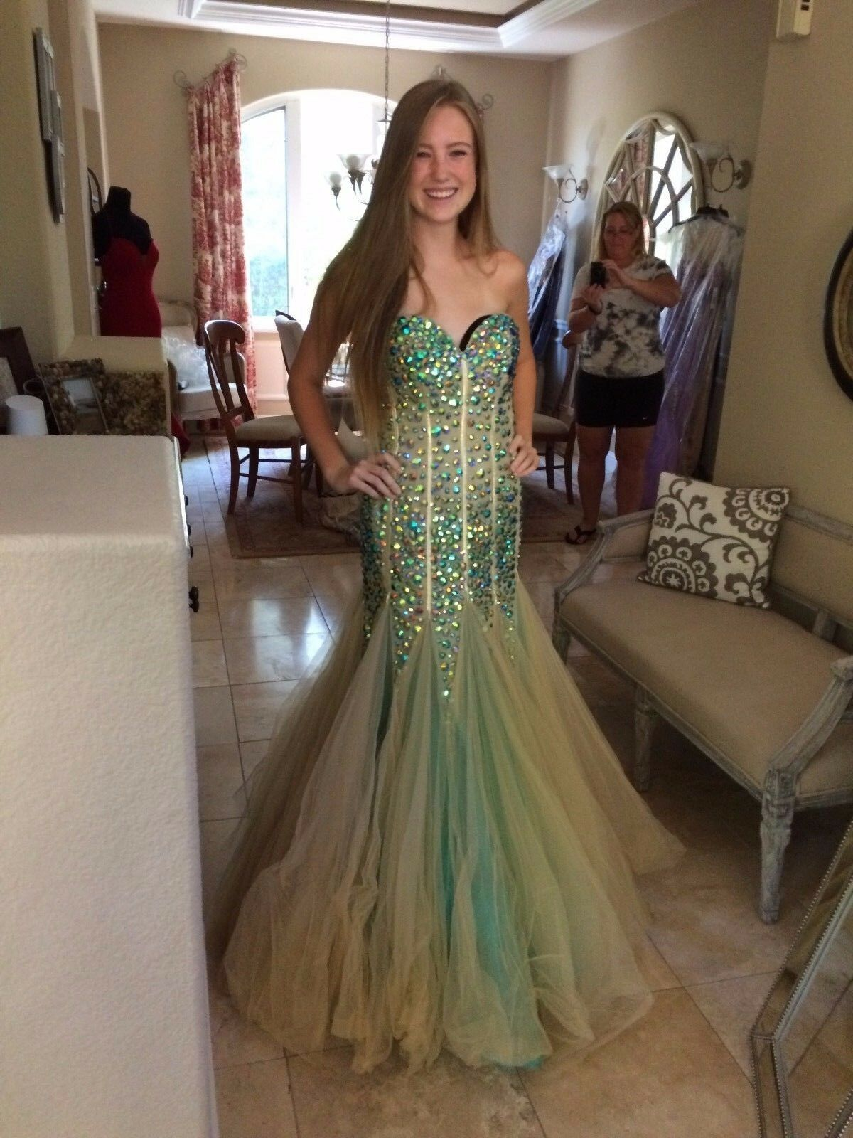 900 NWT SHERRI HILL PROM PAGEANT FORMAL DRESS GOWN SIZE 6