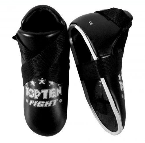 Top Ten Kampf Kick Protektoren schwarz Fußprotektoren Polster Kickboxen Kickboxen Kickboxen Teakwondo 2ac0be