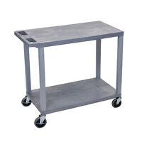 Luxor Ec22 32 X 18 Cart - Two Flat Shelves