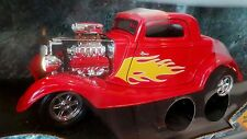 ERTL 1/18 34 Ford High Tech RED FLAMES American Muscle Ready to Rumble 7726 1934