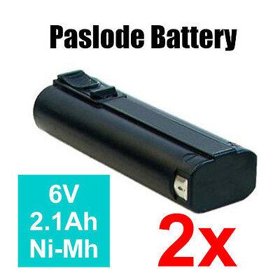 2x Heavy Duty FREEMAN 6V 2.1Ah Ni-Mh Replacement Battery for PASLODE NAIL GUN