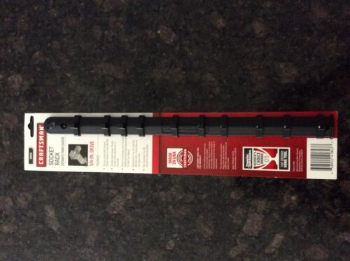 41843-1//4in Craftsman holds 10 sockets-New-Made In USA Dr.-Black socket rack