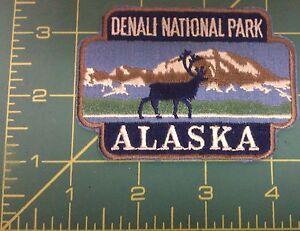Embroidered-Alaska-Patch-Denali-National-park-design-caribou-by-mountain