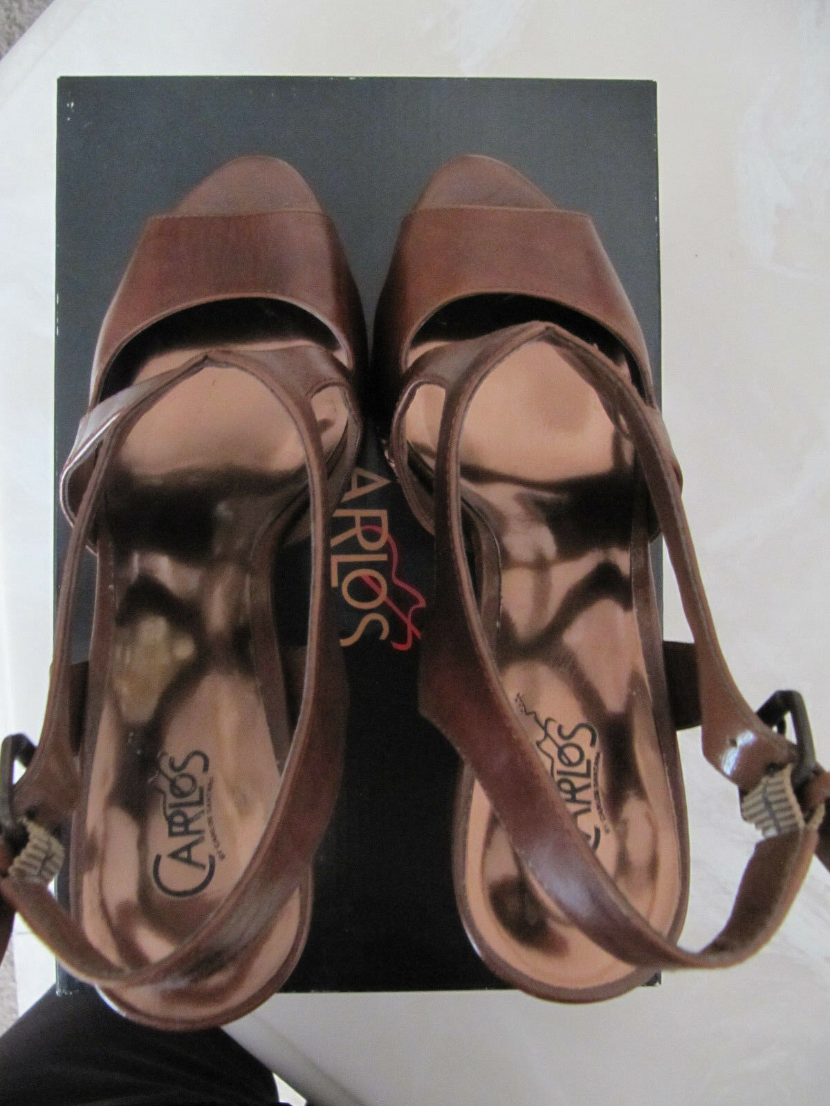 CARLOS BY CARLOS SANTANA SANTANA SANTANA Platform Sandal Davivci 3, Bark Leath Dimensione 8 Med  129 6ee8ca