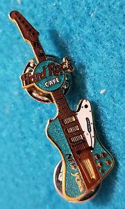 New-York-Citta-Ny-USA-Turchese-Blu-Mini-Chitarra-Serie-Rigida-Rock-Cafe-Perno-Le