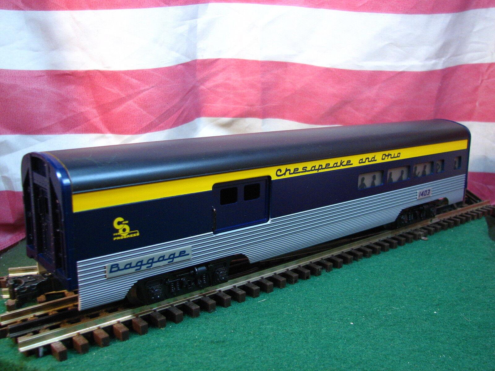 Lionel 6-19145 C&O Chesapeake & Ohio 1403 Aluminum Passenger Combo Car MIB