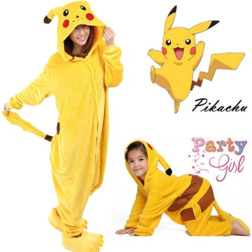 Kids Baby Pikachu Romper Kigurumi Jumpsuit Bodysuit Pajamas Sleepwear Babygrow