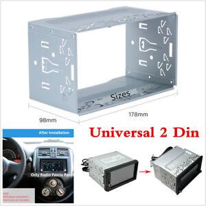 1Pcs-Universal-Car-Van-Stereo-Radio-Double-2-Din-Radio-Panel-Mounting-Cage-Frame