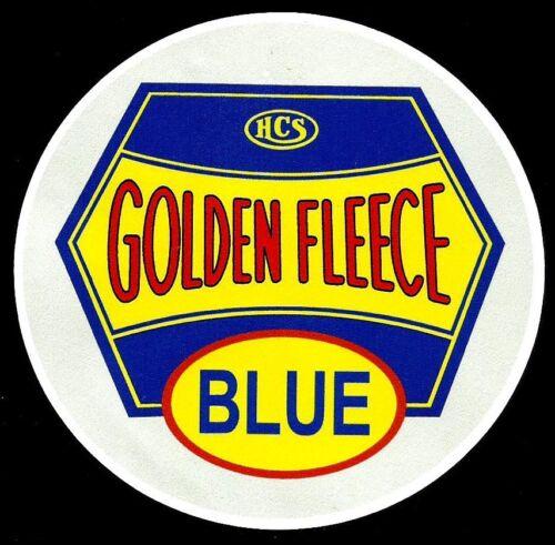 GOLDEN FLEECE /'BLUE/' PROMO PETROL SERVICE STATION VINYL DECAL STICKER OIL Vespa