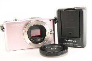 Olympus-Stylo-E-PM1-12-3-Mp-Numerique-Camera-Rose-Corps-Seulement-Parfait-W