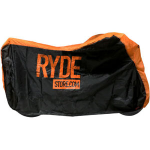 RYDE-XL-MOTORCYCLE-COVER-X-LARGE-ORANGE-WATERPROOF-BIKE-MOTORBIKE-RAIN-PROTECTOR
