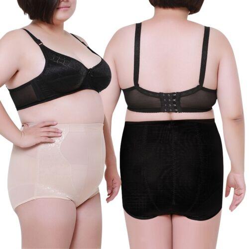 Stylish Women Shaperwear Panties Solid Belly Control Briefs Plus Size Underpants