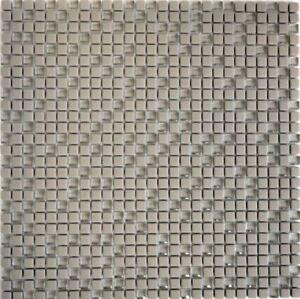 Mosaik-Vetro-cream-matt-mit-Glas-Fliesenspiegel-Kueche-Art-140-03C-10-Matten